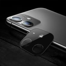 Titanium legering camera lens beschermer gehard glas film voor iPhone 11 (zwart)