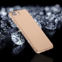 iPhone 7 Plus & 8 Plus Frosted structuur TPU back cover Hoesje met nep diamanten ingelegd frame (goudkleurig)