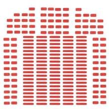 100 sets voor iPhone 8 & 8 Plus moederbord Water schade garantie Indicator Stickers