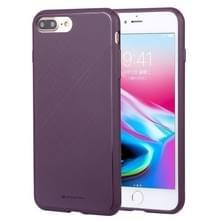 MERCURY GOOSPERY stijl LUX schokbestendig Soft TPU Case voor iPhone 8 plus & 7 Plus (paars)