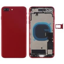 Batterij achtercover montage met Zijknop & vibrator & luidspreker & aan/uit-knop + volume knop Flex kabel & kaart lade voor iPhone 8 plus (rood)