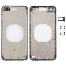 Transparante backcover met Camera Lens & SIM kaart lade & Zijtoetsen voor iPhone 8 Plus (zwart)