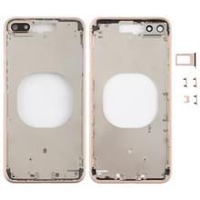 Transparante achterkant met cameralens & simkaartlade & zijsleutels voor iPhone 8 Plus (Goud)