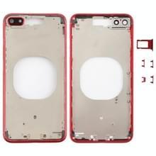 Transparante achterkant met cameralens & simkaartlade & zijtoetsen voor iPhone 8 Plus (Rood)