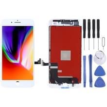 Originele LCD-scherm en digitizer volledige assemblage voor iPhone 8 plus (wit)