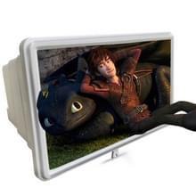 12 inch universele 3D mobiele telefoon scherm Vergrootglas draagbare video vergroten telescopische mobiele telefoon houder (wit)