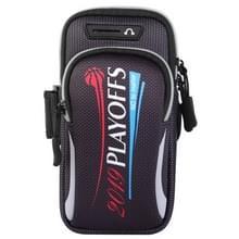 Multifunctionele universele dubbele laag rits brief sport arm Case telefoon tas met oortelefoon gat voor 6 6 inch of onder smartphones (grijs)