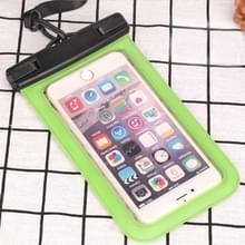 PVC transparante universele IPX8 waterdichte tas met Lanyard voor smartphones onder 6 3 inch (groen)