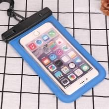 PVC transparante universele IPX8 waterdichte tas met Lanyard voor smartphones onder 6 3 inch (blauw)