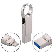 RQW - 10D 2 in 1 USB 2.0 & 8-pins 128 GB Flash Drive  voor iPhone & iPad & iPod & meest Android Smartphones & PC Computer