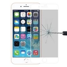 Anti-Scratch 9u 10D volledig scherm Privacy Anti-Glare getemperd glas film voor iPhone 8 & 7 (wit)