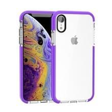 Zeer transparante Soft TPU Case voor iPhone X/XS (paars)
