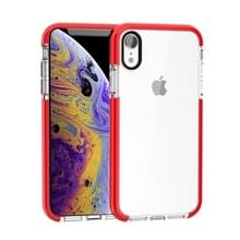 Zeer transparante Soft TPU Case voor iPhone X/XS (rood)