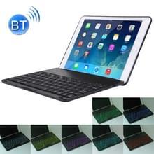 2 in 1 voor iPad Air 2 opvouwbare verstelbaar (0 - 135 graden) aluminiumlegering Tablet beschermende geval houder + Slim Bluetooth V3.0-toetsenbord met 7 kleuren LED-achtergrondverlichting & intelligente inductieve schakelfunctie  operatie afstand: binnen