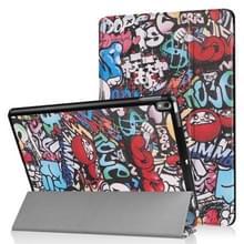 Gekleurde tekening patroon horizontale Flip lederen Case voor iPad Air 2019 10.5 inch  met drie-vouwen houder & slaap / Wake-up functie (Scrawl patroon)