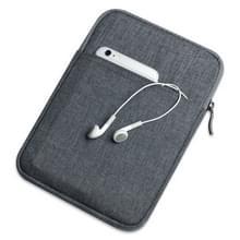 Schokbestendig canvas + ruimte katoen + pluche beschermende tas voor iPad Air 10 5 inch 2019 (donkergrijs)