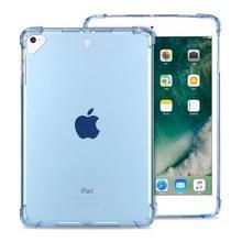 Zeer transparante TPU volledige Thicken hoeken schokbestendig beschermende case voor iPad Mini 5/4/3/2/1 (blauw)
