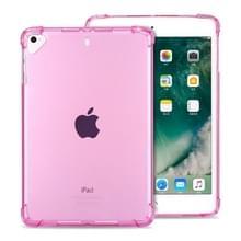Zeer transparante TPU Full dikker hoeken schokbestendige beschermhoes voor iPad Pro 12 9 (2017) & (2015) (roze)