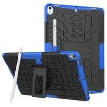 Band textuur TPU + PC schokbestendig geval voor iPad Air 2019/Pro 10 5 inch  met houder & pen sleuf (blauw)
