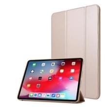 Voor iPad Pro 11 (2020) PC + PU Lederen Hoes met drie vouwen (Champagne Gold)