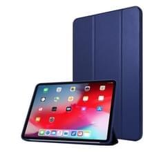Voor iPad Pro 11 (2020) PC + PU Lederen Hoes met drie vouwen (Navy Blue)