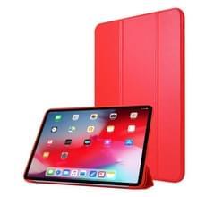 Voor iPad Pro 11 (2020) PC + PU Lederen Hoes met drie vouwen (Rood)
