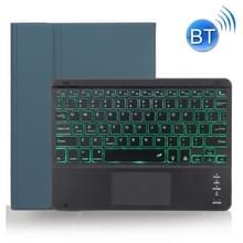 X-11BCS Skin Plain Texture Afneembare Bluetooth-toetsenbordhoes voor iPad Pro 11 inch 2020 / 2018  met Touchpad & Pen Slot & Backlight (Donkergroen)