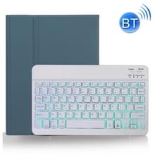 X-11BS Skin Plain Texture Afneembare Bluetooth-toetsenbordhoes voor iPad Pro 11 inch 2020 / 2018  met Pen Slot & Backlight (Donkergroen)