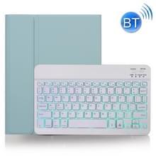 X-11BS Skin Plain Texture Afneembare Bluetooth-toetsenbordhoes voor iPad Pro 11 inch 2020 / 2018  met Pen Slot & Backlight (Groen)