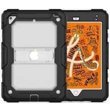 Schokbestendige transparante PC + silicagel beschermhoes voor iPad mini 2019/Mini 4  met houder & schouderband (transparant)