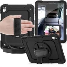 Schokbestendige kleurrijke silicagel + PC beschermende case voor iPad Pro 11 inch (2018)  met houder & schouderriem & hand riem & pen slot (zwart)