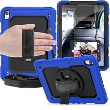 Schokbestendige kleurrijke silicagel + PC beschermende case voor iPad Pro 11 inch (2018)  met houder & schouderriem & hand riem & pen sleuf (blauw)