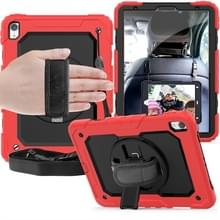 Schokbestendige kleurrijke silicagel + PC beschermende case voor iPad Pro 11 inch (2018)  met houder & schouderriem & hand riem & pen sleuf (rood)