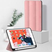 TOTUDESIGN horizontale Flip lederen case voor iPad Air 2019 10 5 inch  met houder & slaap/Wake-up functie & Pensleuf (Rose goud)