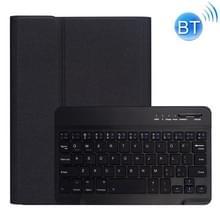 RK405 voor iPad Mini 5/4 zijde textuur afneembare kunststof Bluetooth toetsenbord lederen cover met Pensleuf & stand functie (zwart)