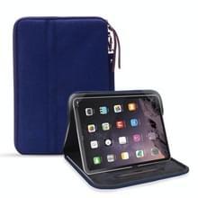 Universele waterdichte schokbestendige tablet beschermhoes draagtas met houder voor iPad 10.2 2019 of below inch tablet (donkerblauw)