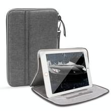 Universele waterdichte schokbestendige tablet beschermhoes draagtas met houder voor iPad 10.2 2019 of below inch tablet (grijs)