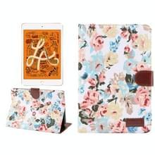 Horizontale Flip Floral doek lederen Case voor iPad Mini 2019 / iPad Mini 4  met houder & slaap / Wake-up functie & portemonnee (wit)