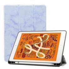Marmeren textuur patroon horizontale Flip lederen case voor iPad Air 2019 10 5 inch  met drie-opvouwbare houder & Pensleuf & slaap/Wake-up functie (paars)