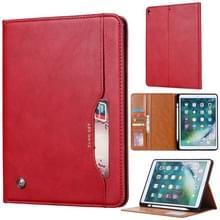 Knead huidtextuur horizontaal Flip lederen case voor iPad Air 2019 10 5 inch  met foto frame & houder & kaartsleuven & portemonnee & pen sleuf (rood)