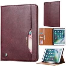 Knead huidtextuur horizontaal Flip lederen case voor iPad Air 2019 10 5 inch  met foto frame & houder & kaartsleuven & portemonnee & pen sleuf (wijn rood)