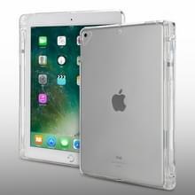 Transparante TPU afgestoken rand zachte back cover beschermhoes voor iPad Pro 10.5 inch  met Pen Slots(Transparent)
