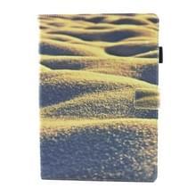 iPad Pro 10.5 inch horizontaal Zand woestijn patroon PU leren Flip Hoesje met houder  slaap / ontwaak functie en opbergruimte voor pen & pinpassen