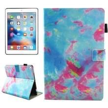 iPad Pro 10.5 inch horizontaal Kleurrijk marmer patroon PU leren Flip Hoesje met houder  slaap / ontwaak functie en opbergruimte voor pinpassen & pen