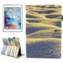iPad Pro 10.5 inch horizontaal Zand woestijn patroon PU leren Flip Hoesje met houder  slaap / ontwaak functie en opbergruimte voor pinpassen & pen