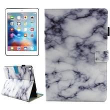 iPad Pro 10.5 inch horizontaal Zwart wit marmer patroon PU leren Flip Hoesje met houder  slaap / ontwaak functie en opbergruimte voor pinpassen & pen