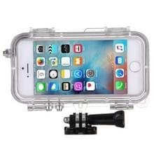 HAMTOD voor iPhone 5 & 5S & SE Extreme sport IP68 waterdichte hoes met 170 graden brede hoeklens  compatibel met GoPro accessoires  waterdichte diepte: 5m(Gold)
