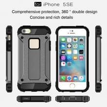 Harde Armor TPU + PC combinatie Case voor iPhone SE & 5 & 5s(Grey)