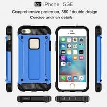 Harde Armor TPU + PC combinatie Case voor iPhone SE & 5 & 5s(Blue)