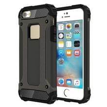 Harde Armor TPU + PC combinatie Case voor iPhone SE & 5 & 5s(Bronze)